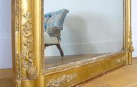 Large 19th Century Victorian Gilt Overmantle Mirror (10 of 14)