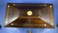 William IV Rosewood Tea Caddy with Mother of Pearl & Pewter Inlay (7 of 8)