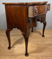 Shaped Walnut Lowboy Hall Table (4 of 11)