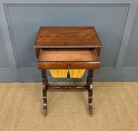 Regency Period Rosewood Work Table (4 of 15)