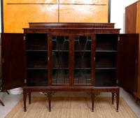 Edwardian Bookcase Inlaid Mahogany Glazed (4 of 7)
