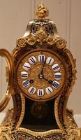 Small French Tortoiseshell and Brass inlay Mantel Clock (9 of 12)