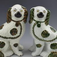Pair of Copper Lustre Staffordshire Spaniel Dogs c.1890 (7 of 7)