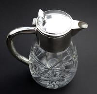 Substantial WMF Deep Cut Glass & Silver Plate Cooling Lemonade Jug c.1935 (4 of 10)
