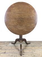 19th Century Oak Circular Tilt Top Tripod Table (8 of 11)