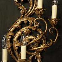 Florentine Silver Giltwood Antique Wall Lights (7 of 10)