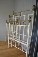 Matching Pair of Victorian Beds, 3ft Single Brass & Iron Bedsteads (4 of 12)