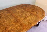 Antique Burr Walnut Extending Dining Table Eight Seater (12 of 14)