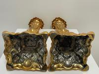 Pair of Decorative French 19th Century Gilded Hallmarked Cartouche Scroll Candlesticks (14 of 40)
