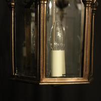 French Bronze Triple Light Antique Hall Lantern (7 of 10)