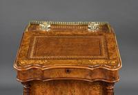 Victorian Burr Walnut Inlaid Davenport Desk (3 of 9)