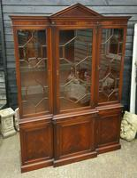 Reprodux Bevan Funnell Mahogany Breakfront Library Bookcase (5 of 5)