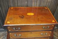 Dutch mahogany bombe commode / chest of drawers (7 of 8)