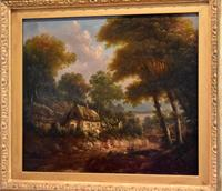 Fine cottage scene oil painting (5 of 9)