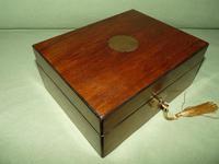 Inlaid Walnut Jewellery Box + Tray c.1875 (2 of 7)
