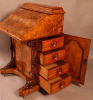 "Superb Victorian Burr Walnut ""Jack in a Box"" Davenport (4 of 16)"