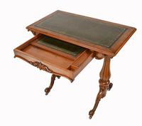 Victorian Writing Table Walnut Tulip Leg Desk c.1880 (9 of 10)