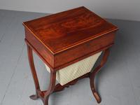 Unusual Biedermeier Inlaid Mahogany Work Box or Table (4 of 10)