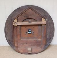 Rare 33 Inch Industrial Oak Wall Clock (10 of 10)