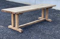 Large French Rustic Bleached Oak Farmhouse Dining Table (26 of 36)