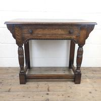 Early 20th Century Antique Oak Side Table (2 of 10)