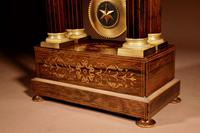 A Very Stylish Charles X Rosewood/Palisandre Inlaid With Lemon Wood and Ormolu Portico Clock Circa: 1830 (15 of 15)