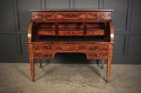 Beautiful Large Flame Mahogany Cylinder Desk (19 of 30)