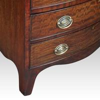 Edwardian Bow Fronted Small Chest (4 of 9)