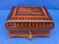 William IV Birch Penwork Jewellery Box (16 of 16)