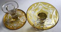 Pair of Czech Glass Decorated Candlesticks,  Circa 1950's (4 of 4)
