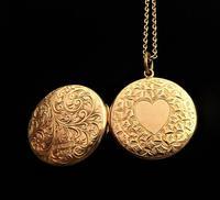 Edwardian Hallmarked 9 Carat Rose Gold Locket Necklace Chester Assayed (2 of 10)