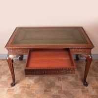 Superb Quality Mahogany Chippendale Design Writing Table (10 of 23)
