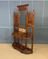 Large Victorian Walnut Hall Stand by James Shoolbred and Co. (4 of 17)