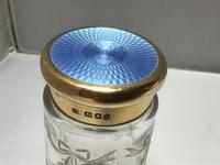 Delightful Silver Gilt & Blue Enamel Jar (3 of 5)
