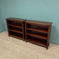 Pair of Edwardian Mahogany Antique Bookcases by John Taylor (6 of 6)