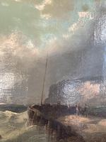 Antique Victorian marine seascape oil painting (1 of 2) (5 of 10)