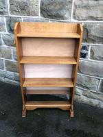 Antique Light Oak Open Bookcase (2 of 10)
