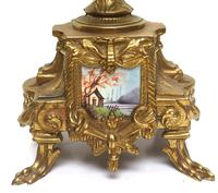 Vintage Sevres Mantel Clock Garniture 8 Day Striking Ormolu Mantel Clock (8 of 14)
