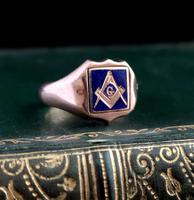 Antique Masonic Signet Ring, 9ct Gold (9 of 9)
