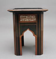 19th Century ebony and inlaid occasional table (8 of 9)