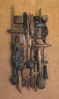 Original Hanging Wood Construction of 'Objet Trouve' by Ken Walch 1927-2017 (2 of 4)