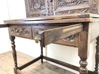 Antique Oak Carved Desk (3 of 13)
