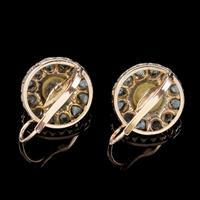 Antique Victorian Rose Cut Diamond Natural Pearl Earrings 3.60ct of Diamond 18ct Gold c.1880 (5 of 7)
