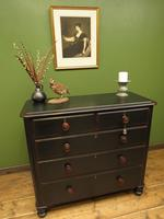 Antique Painted Black Chest of Drawers (15 of 16)