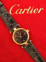 Cartier Vendome Quartz Wristwatch Black Face