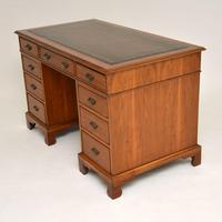Antique Victorian  Walnut Pedestal Desk (4 of 11)
