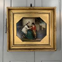 Antique Georgian oil painting study of mother and son at The Old Manor, Abbots Morton, Worcs (4 of 10)