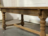 Superb Quality Large Bleached Oak Farmhouse Dining Table (24 of 32)