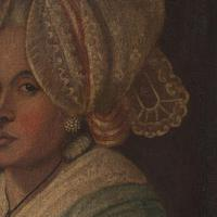 18th-Century French School Portrait of Lady with Bonnet, Oil Painting (6 of 9)