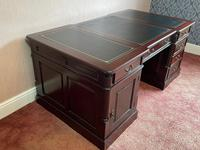 Large Georgian Style Double Sided Partners Desk (16 of 51)